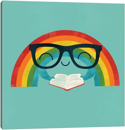 Reading Rainbow Canvas Art Print