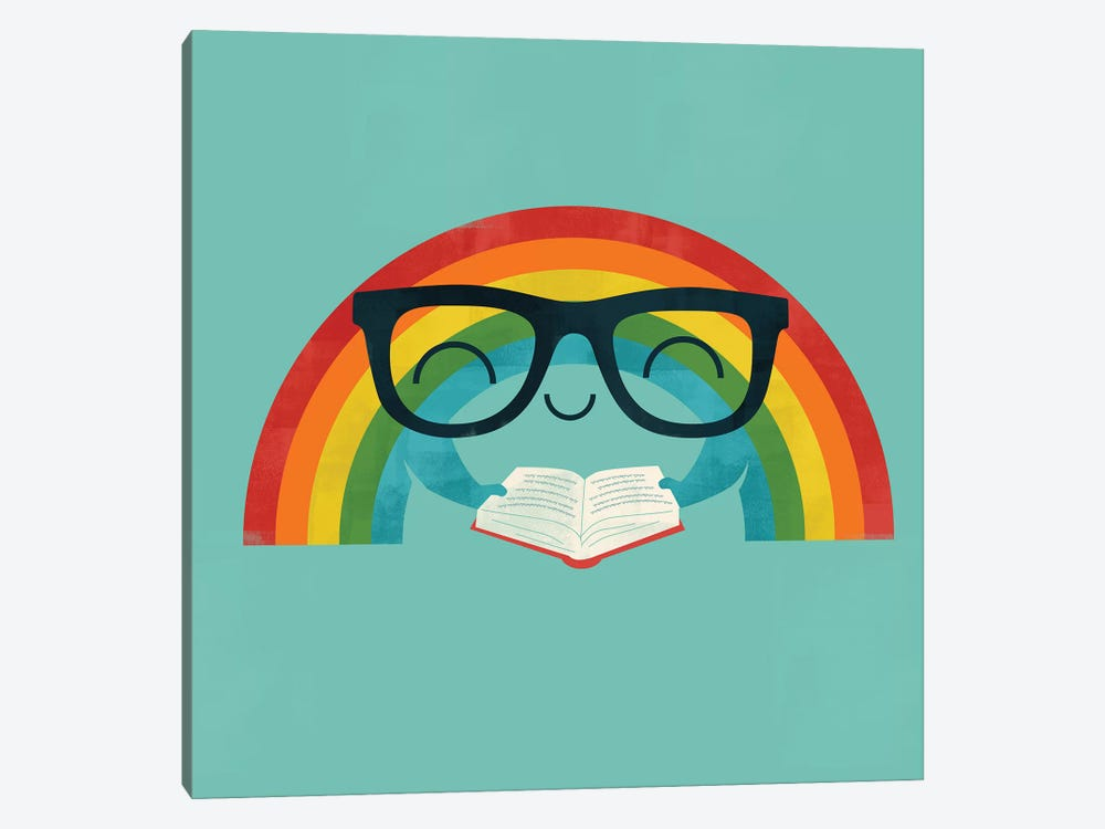 Reading Rainbow by Jay Fleck 1-piece Canvas Print