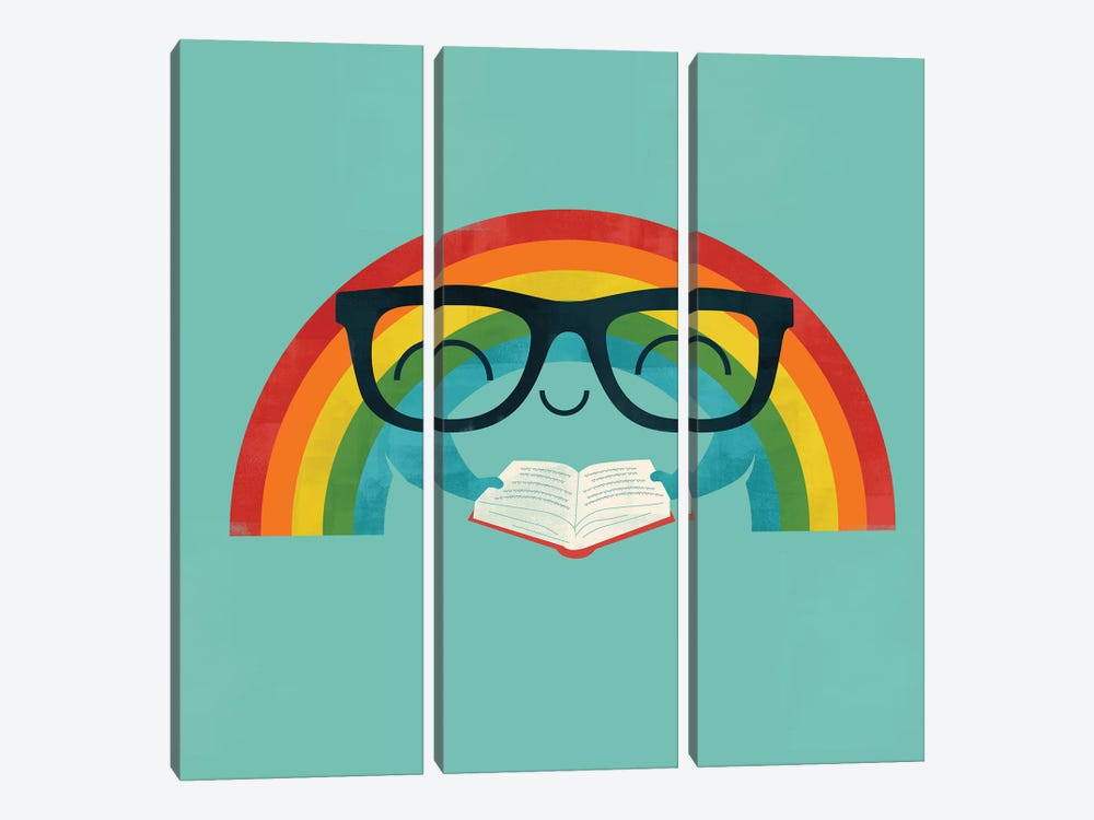 Reading Rainbow by Jay Fleck 3-piece Canvas Art Print