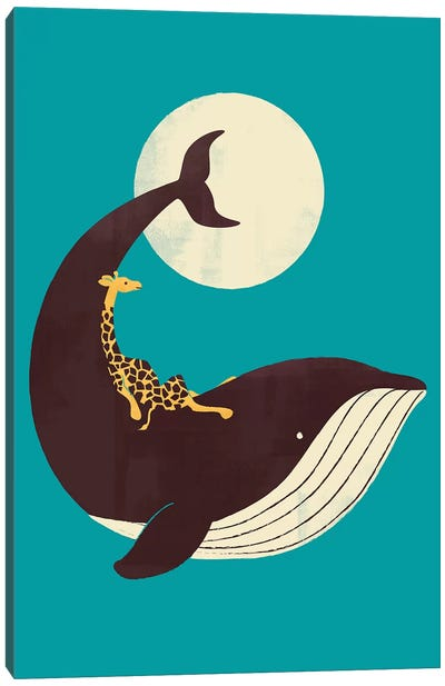 The Giraffe And The Whale Canvas Art Print