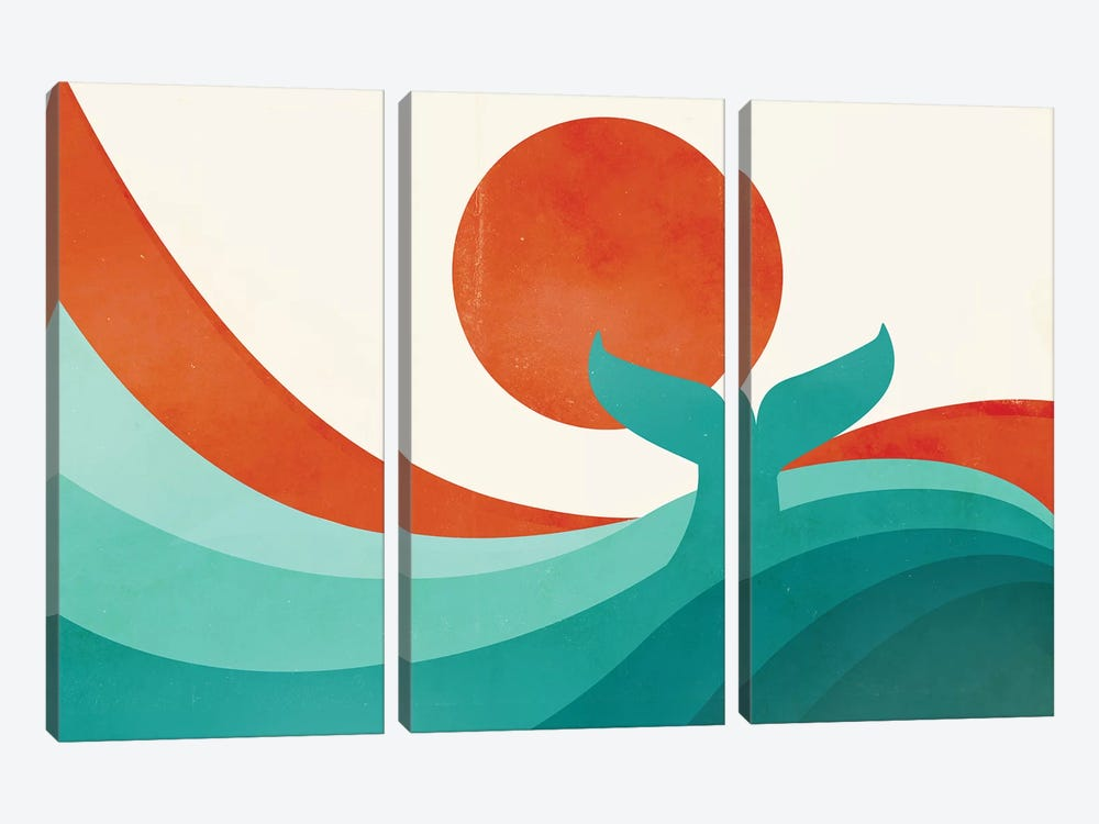 Wave (Day) by Jay Fleck 3-piece Canvas Print