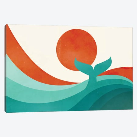 Wave (Day) Canvas Print #JFL20} by Jay Fleck Canvas Wall Art