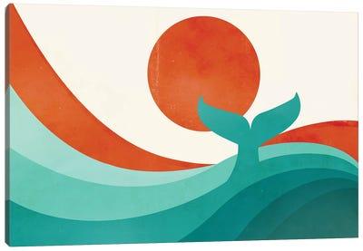 Wave (Day) Canvas Art Print