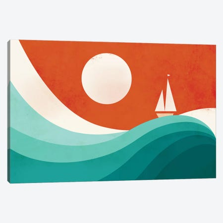 Wave (Night) Canvas Print #JFL21} by Jay Fleck Canvas Wall Art