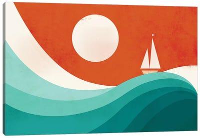 Wave (Night) Canvas Print #JFL21
