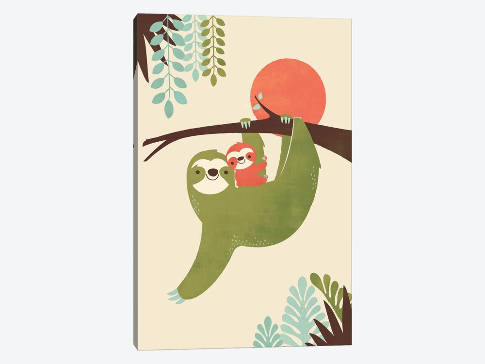 Mama Sloth by Jay Fleck 1-piece Art Print