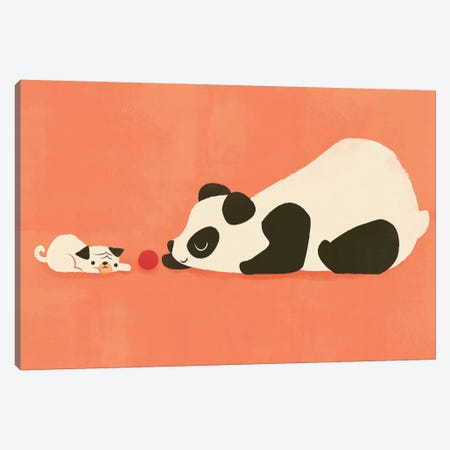 The Pug And The Panda Canvas Print #JFL27} by Jay Fleck Art Print