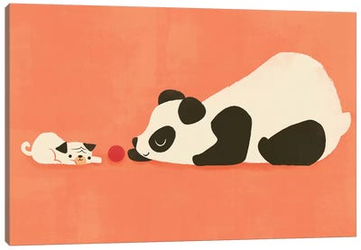 The Pug And The Panda Canvas Art Print