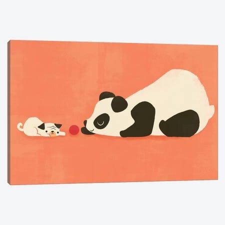 The Pug And The Panda Canvas Print #JFL27} by Jay Fleck Art Print