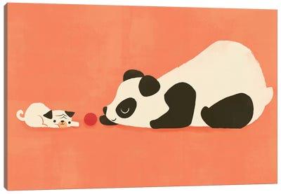 The Pug And The Panda Canvas Art Print