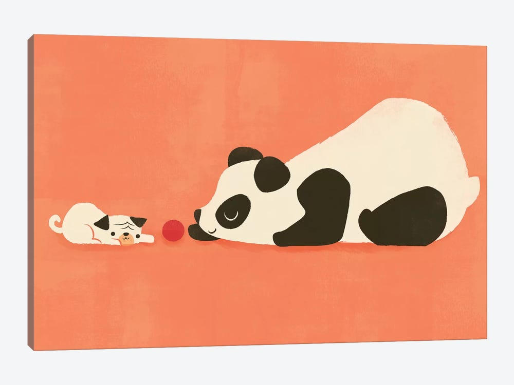 The Pug And The Panda by Jay Fleck 1-piece Canvas Art