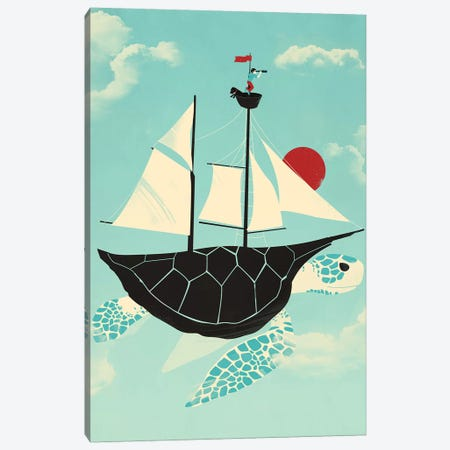 Adrift Canvas Print #JFL28} by Jay Fleck Canvas Wall Art