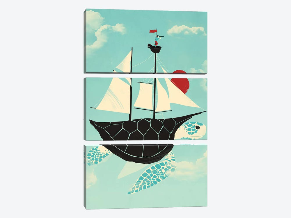 Adrift by Jay Fleck 3-piece Canvas Print