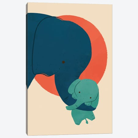 Baby Elephant Canvas Print #JFL29} by Jay Fleck Canvas Wall Art