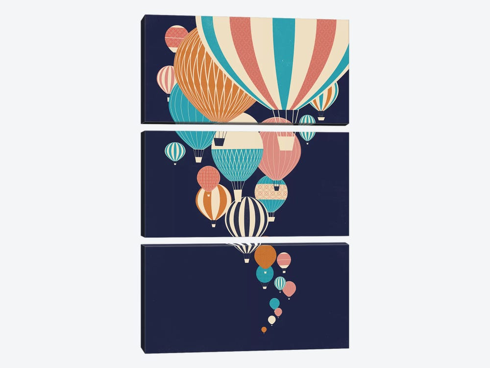 Balloons by Jay Fleck 3-piece Canvas Artwork