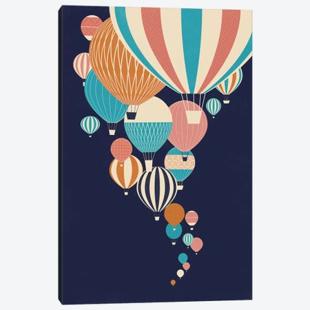 Balloons 3-Piece Canvas #JFL2} by Jay Fleck Art Print