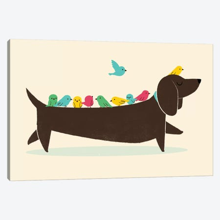 Bird Dog Canvas Print #JFL31} by Jay Fleck Canvas Art Print