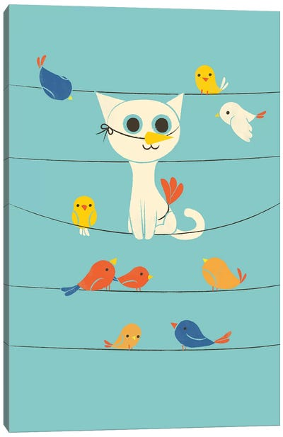 Bird Watching Canvas Art Print