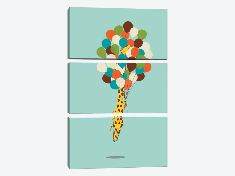 Floating Away by Jay Fleck 3-piece Canvas Wall Art