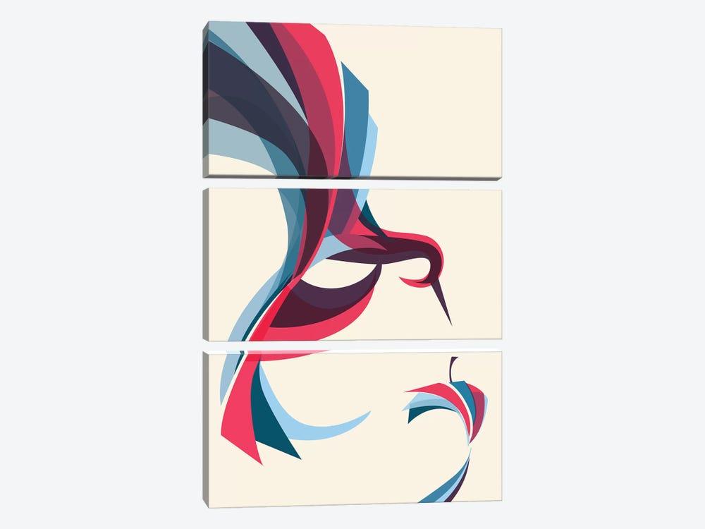 Hummingbird by Jay Fleck 3-piece Canvas Wall Art