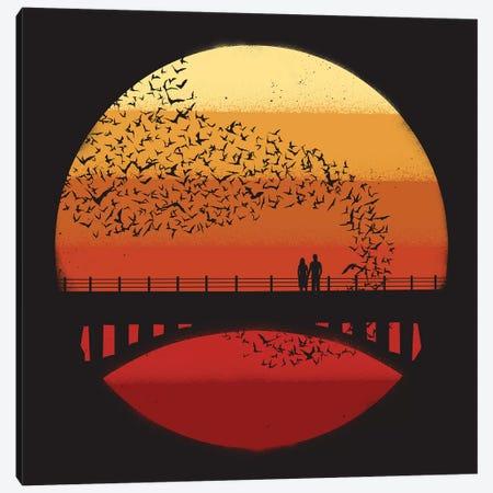 Into The Setting Sun Canvas Print #JFL40} by Jay Fleck Canvas Artwork