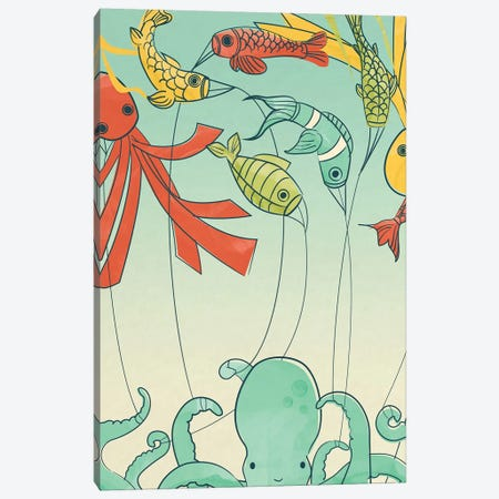 Kites Canvas Print #JFL42} by Jay Fleck Canvas Artwork