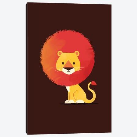 Lion Canvas Print #JFL44} by Jay Fleck Art Print