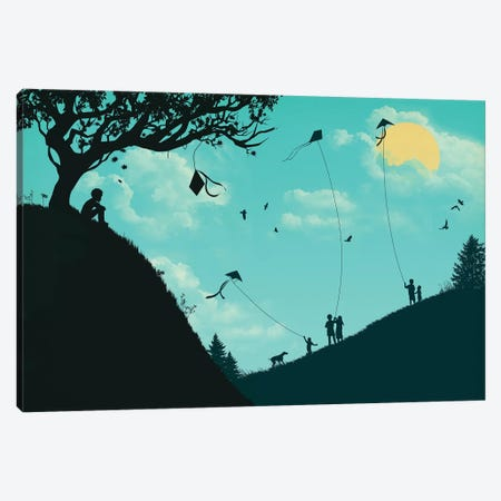 Melancholy Hill Canvas Print #JFL45} by Jay Fleck Art Print