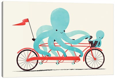 My Red Bike Canvas Art Print