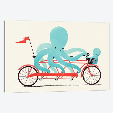 My Red Bike Canvas Print #JFL47} by Jay Fleck Canvas Print