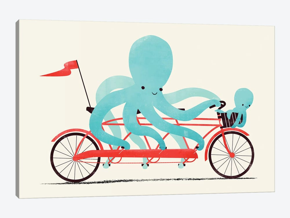My Red Bike by Jay Fleck 1-piece Canvas Wall Art