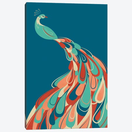 Peacock Canvas Print #JFL51} by Jay Fleck Art Print