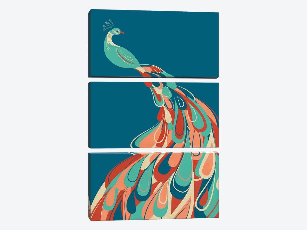 Peacock by Jay Fleck 3-piece Art Print