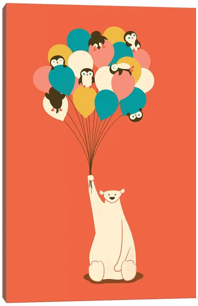 Penguin Bouquet Canvas Art Print