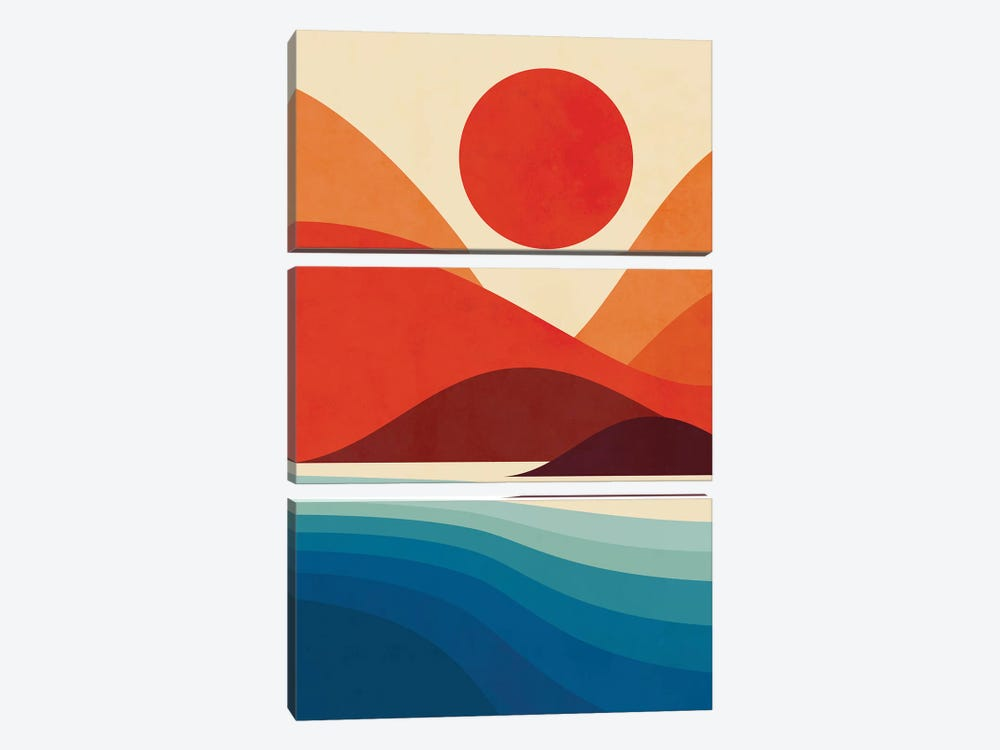 Seaside 3-piece Canvas Artwork