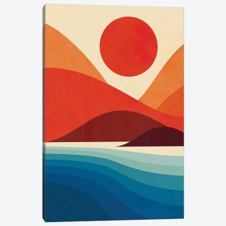 Seaside Canvas Print #JFL56} by Jay Fleck Canvas Wall Art