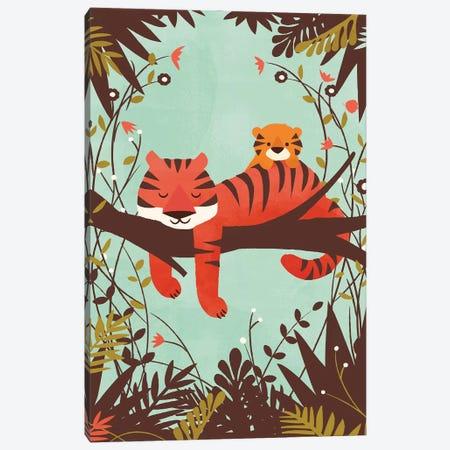 Sleeping Tiger Canvas Print #JFL58} by Jay Fleck Canvas Art Print