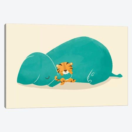 Tiger Mother Canvas Print #JFL65} by Jay Fleck Art Print