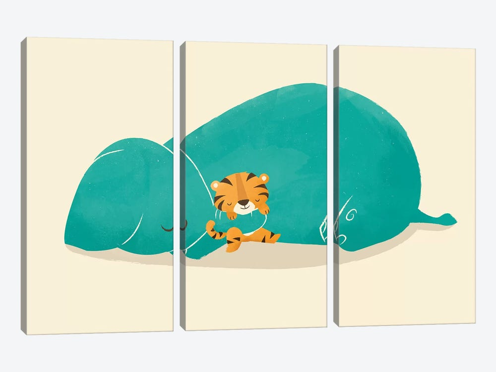 Tiger Mother 3-piece Canvas Wall Art