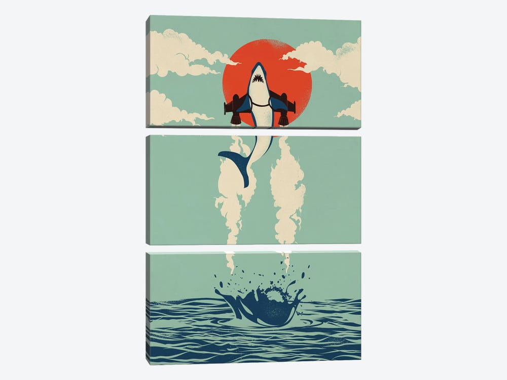 Up From The Deep by Jay Fleck 3-piece Canvas Print