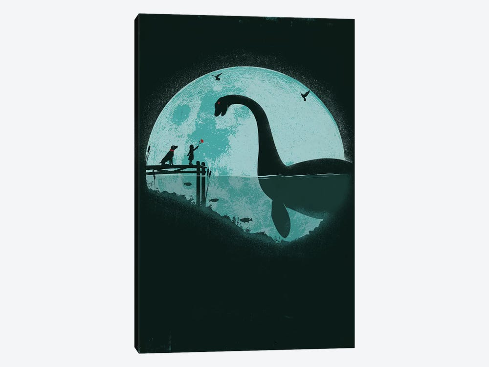 Encounter Under A Blue Moon by Jay Fleck 1-piece Canvas Print