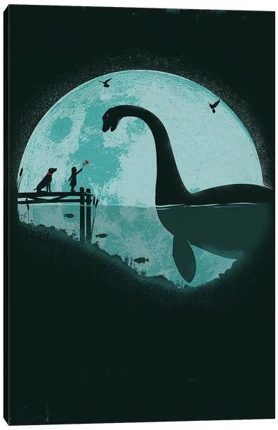 Encounter Under A Blue Moon Canvas Art Print