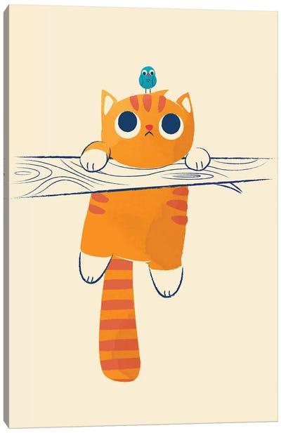 Fat Cat, Little Bird Canvas Art Print