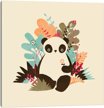 Flower Panda Canvas Art Print