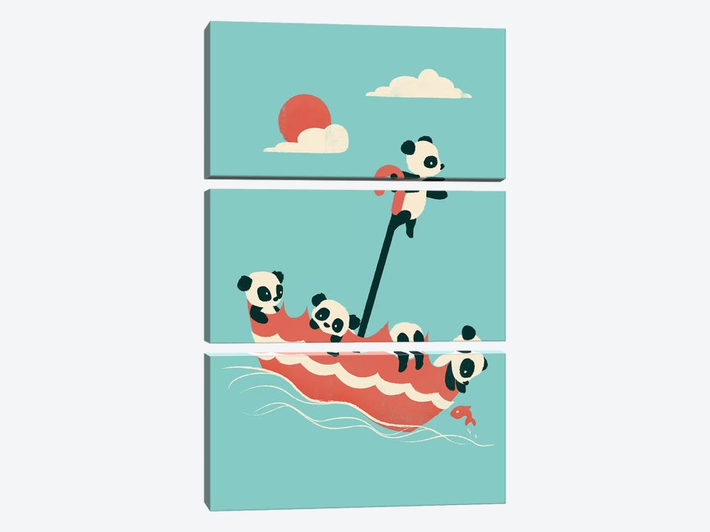 Float On by Jay Fleck 3-piece Canvas Art Print