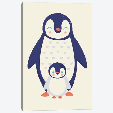 Mama Penguin Canvas Print #JFL80} by Jay Fleck Canvas Artwork