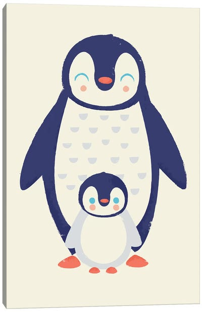 Mama Penguin Canvas Art Print