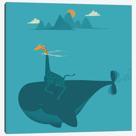 Nature's Submarine Canvas Print #JFL81} by Jay Fleck Canvas Artwork