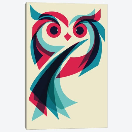 Owl Canvas Print #JFL82} by Jay Fleck Canvas Art