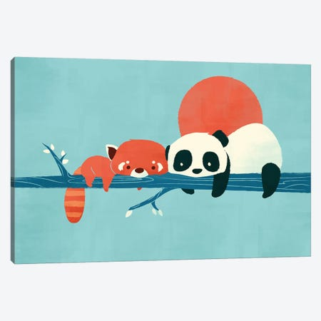 Pandas Canvas Print #JFL84} by Jay Fleck Canvas Print